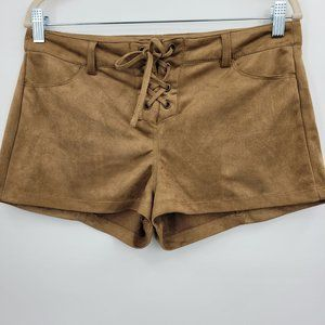 Bajee Collection Faux Suede Shorts